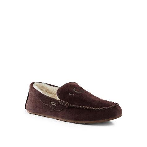 lands end slippers lands end brown suede moccasin slippers 163 45 00 octer