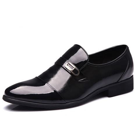 2016 new s business formal breathable patent leather