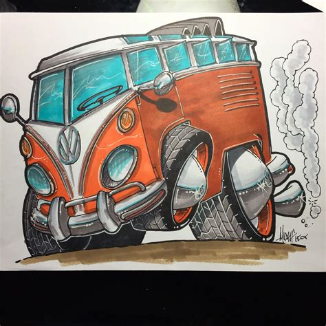 volkswagen drawing micahdoodles com vw drawing prints available