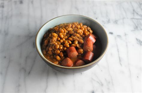 dogs and beans comfort food dogs and baked beans the second lunch