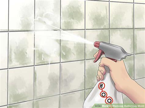 ways  remove bathroom mold wikihow
