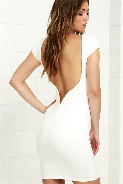 Daring Backless Dresses by Ivory Dress White Dress Backless Dress Bodycon