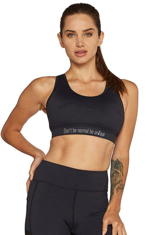 Sport Bra black mesh sport bra don t be normal be unique createilogy