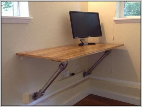 diy wall mounted desk wall mounted computer desk diy desk home design ideas