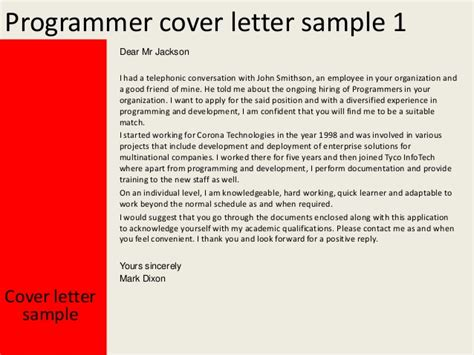 programmer cover letter programmer cover letter 60 images cover letter