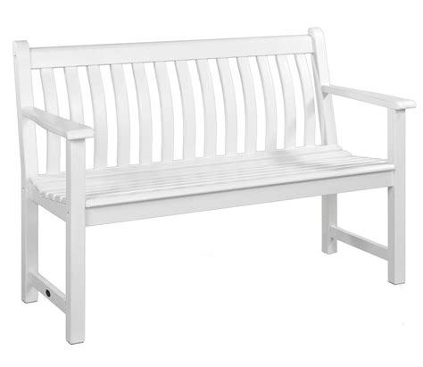 white bench alexander rose white painted broadfield 4ft bench