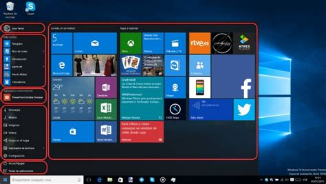 imagenes de inicio windows 10 configurar el men 250 inicio en windows 10 para pc todas las