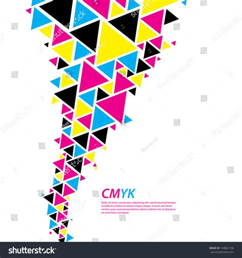 color profile color profile abstract triangle flow stock vector