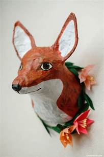 How To Make Paper Mache Animals - paper mache animal heads diy tutorial paper mache