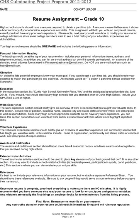 Entry Level Resume Sles High School Students high school student resume templates for free