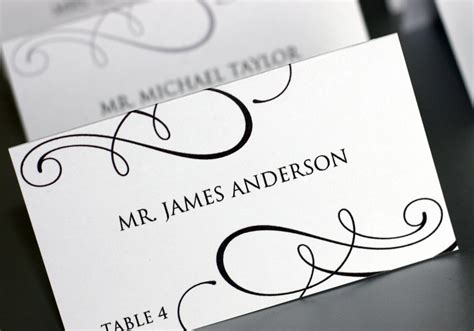 card name template free wedding name card templates free inspirations
