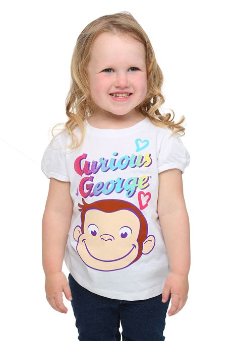 toddler curious george smile t shirt