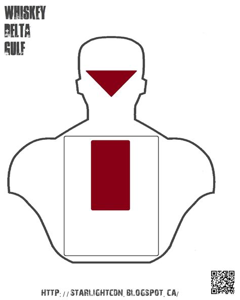 printable pistol training targets whiskey delta gulf targetry