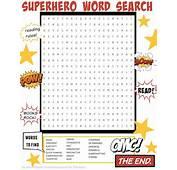 Superhero Word Search  Parents Scholasticcom
