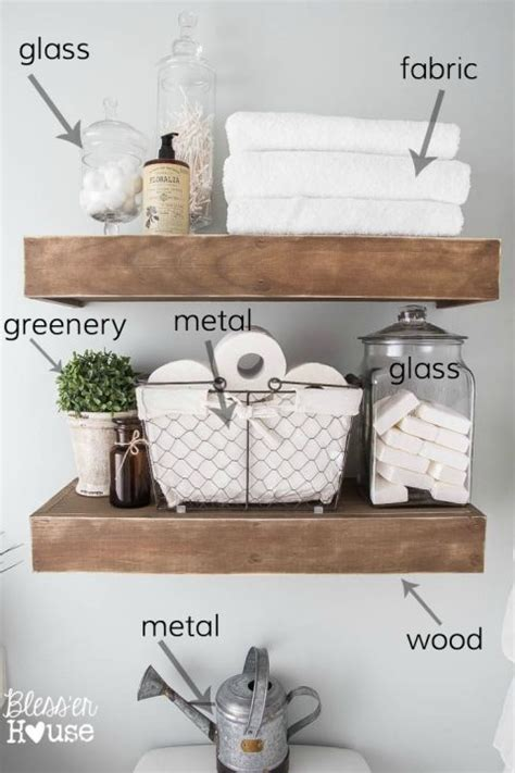 bathroom accessories shelves best 25 bathroom shelves ideas on half bath