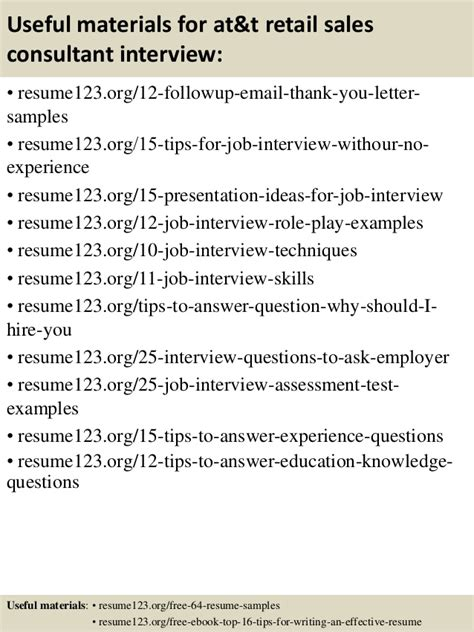 retail sales consultant cover letter top 8 at t retail sales consultant resume sles