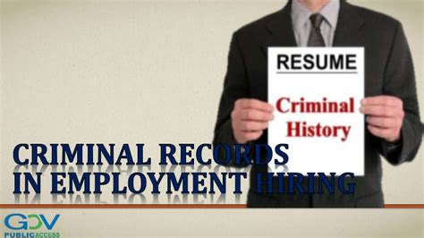 Criminal Record Employment Criminal Records In Employment Hiring
