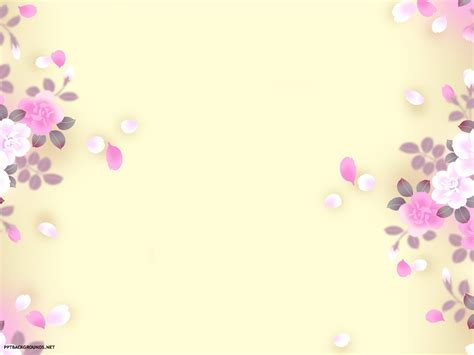 Flower Template Powerpoint floral background powerpointhintergrund