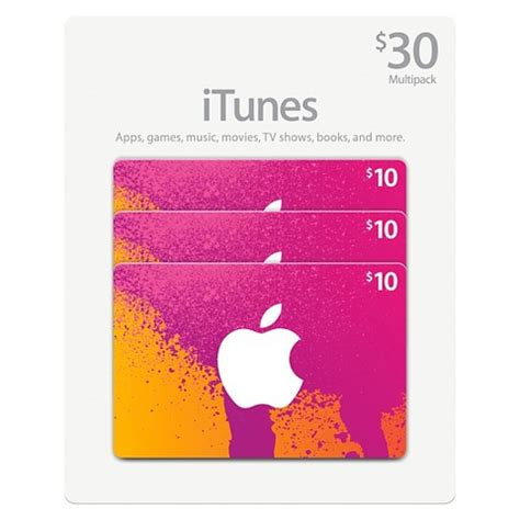 I Tune Gift Card - 30 itunes gift card multi pack 3x10 target