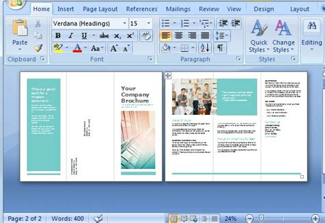 page template creator free brochure maker template for ms word