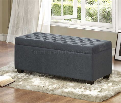 storage bench fabric calusa storage bench 4741fa in grey fabric by homelegance