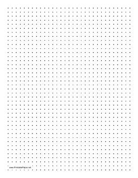 dotted paper to printable printable dot paper with four dots per inch on letter