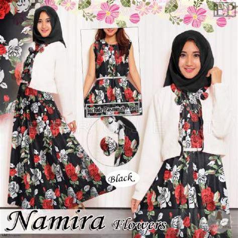 Busana Spirit 212 Baju Muslim Remaja Wanita Katun Nibras Nt 18 baju gamis remaja b064 namira flowers busana muslim modern