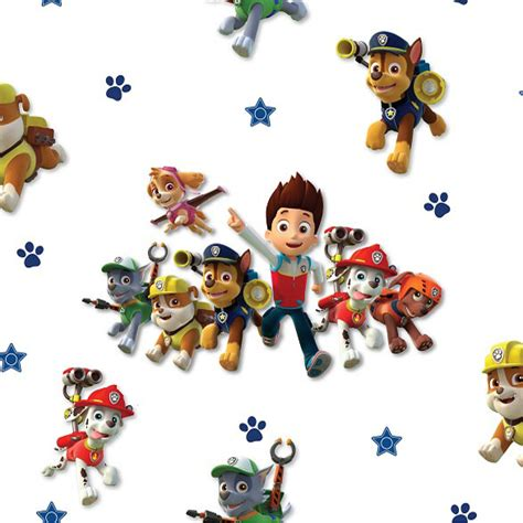 Next Home Wall Stickers debona paw patrol wallpaper kids wallpaper decorating b amp m