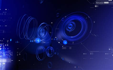 blue tech circles wallpapers hd wallpapers id