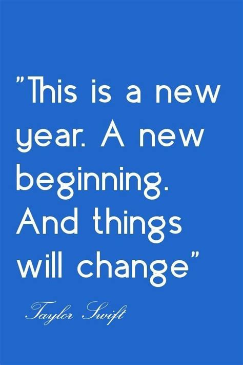 this is a new year a new beginning and things will