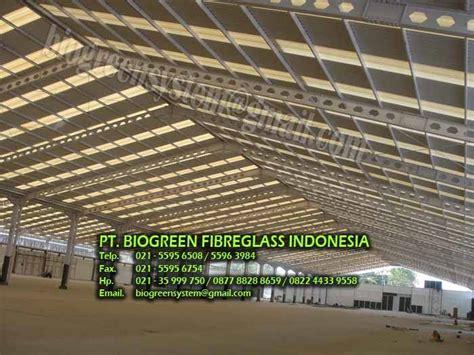 Atap Penerangan Fiber pt biogreen fibreglass indonesia atap fibreglass atap
