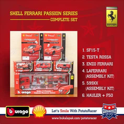 Shell Burago Complete jual bburago shell series complete set burago limited edition baru diecast