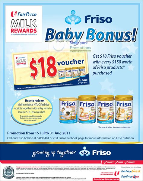friso comfort singapore friso 18 voucher for every 150 spend 15 jul 31 aug 2011