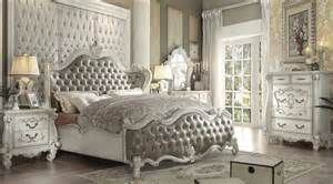 4 versailles vintage gray bone white bedroom set