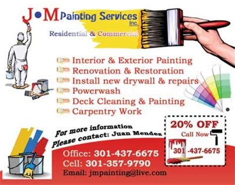 painting flyers templates free painting companycontractor business card construction