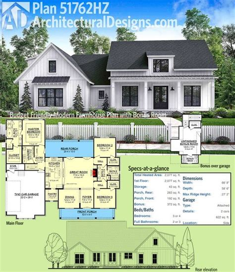 farmhouse house plan plan 51762hz budget friendly modern farmhouse plan with