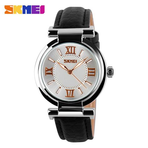 Jam Tangan Wanita 191008 Black skmei jam tangan analog wanita 9075cl black