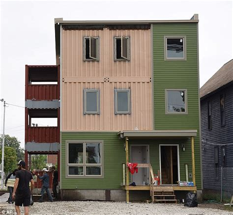 Apartment Pods Seattle Detroit Shipping Container Home Was Built In Just Six