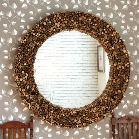 decorative mirrors online large round driftwood mirror by decorative mirrors online