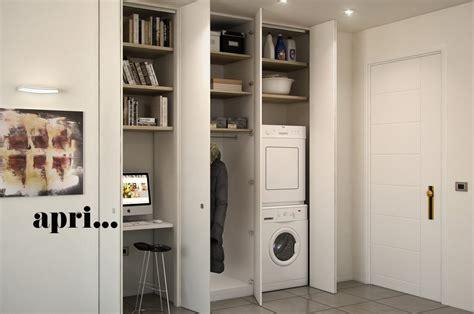 armadi a muro per ingresso l armadio a muro per nascondere lavanderia ripostiglio