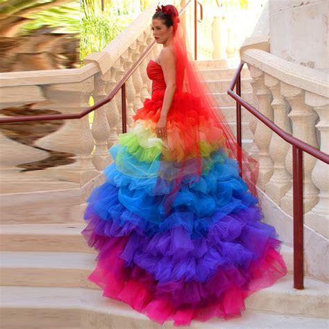 Gaun Raibow popular rainbow wedding dresses buy cheap rainbow wedding dresses lots from china rainbow