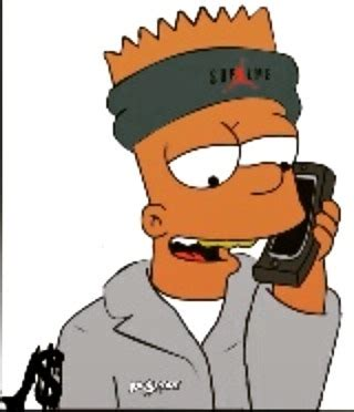 bart simpson supreme with headband pictures to pin on