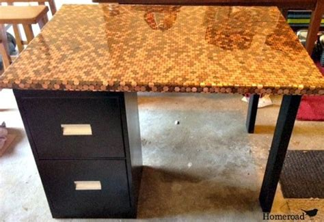 diy cyberpunk coffee table made from old laptop parts diy desk with a penny top bob vila