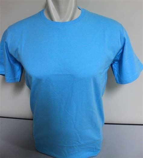 Kaos Polos Biru Muda Cotton Combed 20s Size Xl pemesanan kaos polos harga murah bahan bermutu