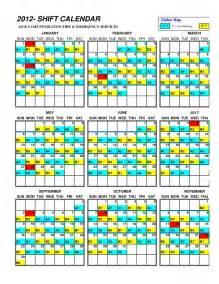 Shift Calendar Template by Firefighter Shift Calendar Template Calendar Template
