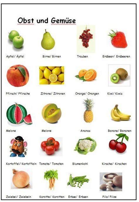 fruit in german obst und gem 252 se german fruits vegetables language arts