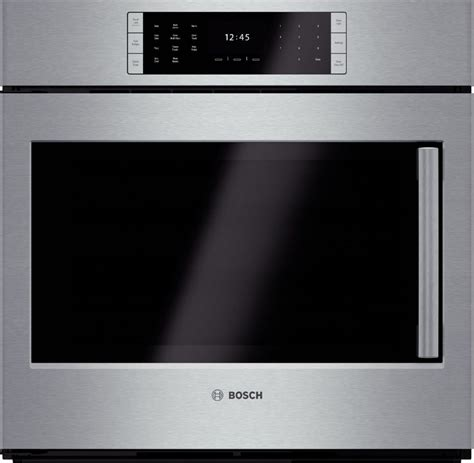 side swing oven hblp451luc bosch benchmark 30 quot wall oven side swing
