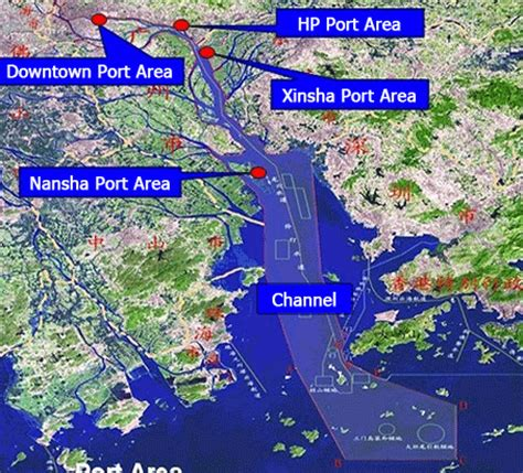 guangzhou port related keywords suggestions for nansha china map