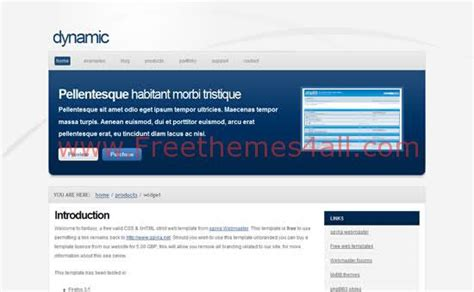Dynamic Blue White Css Template Download White Website Templates