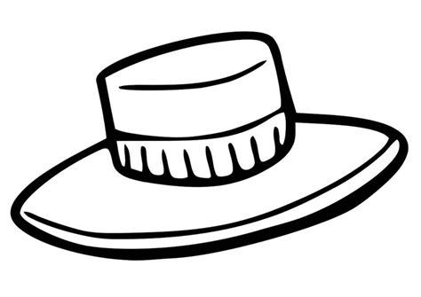 straw hat coloring page kleurplaat hoed afb 19353